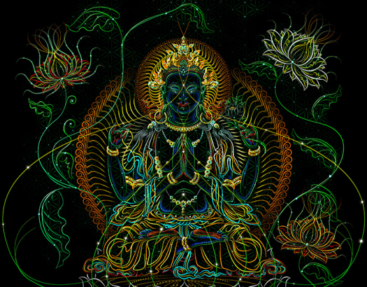 Green Tara print on cavas